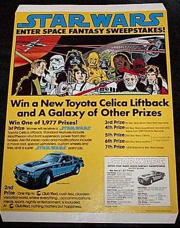 Star Wars Space Fantasy Sweeps Missing Car Search