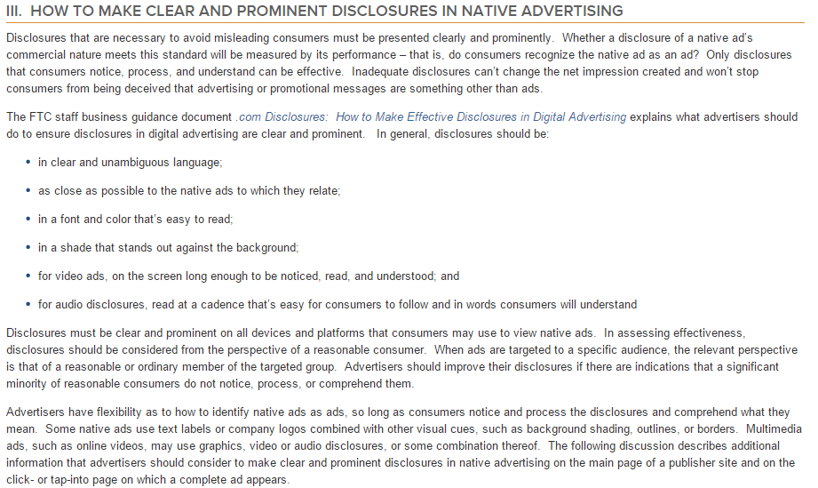 Native Advertising A Guide for Businesses Federal Trade Commission