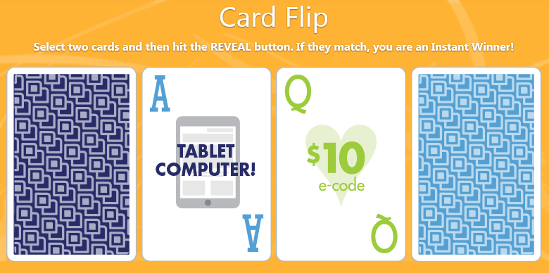 instant win game card flip demo