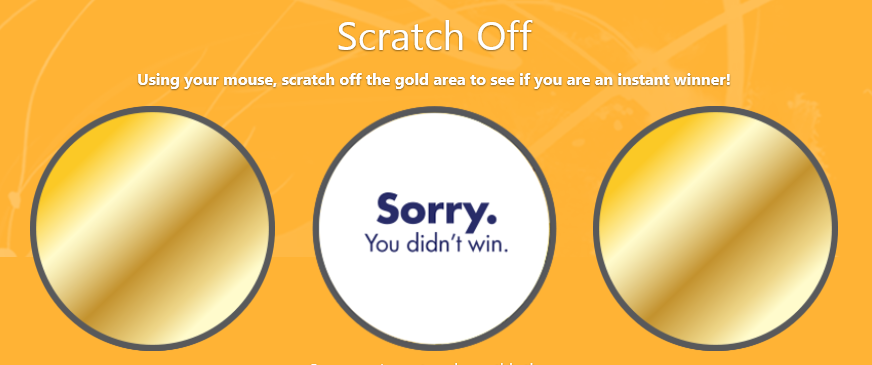 instant win game scratch off demo