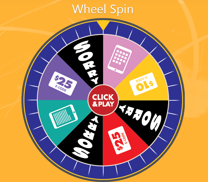 instant win game wheel spin demo