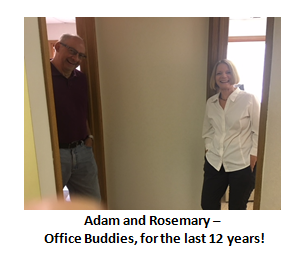 adam and rosemary - office buddies