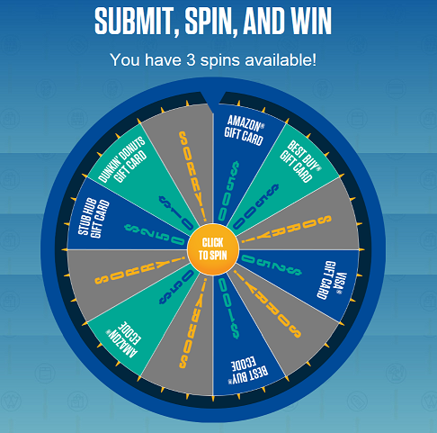 instant win game spinner game