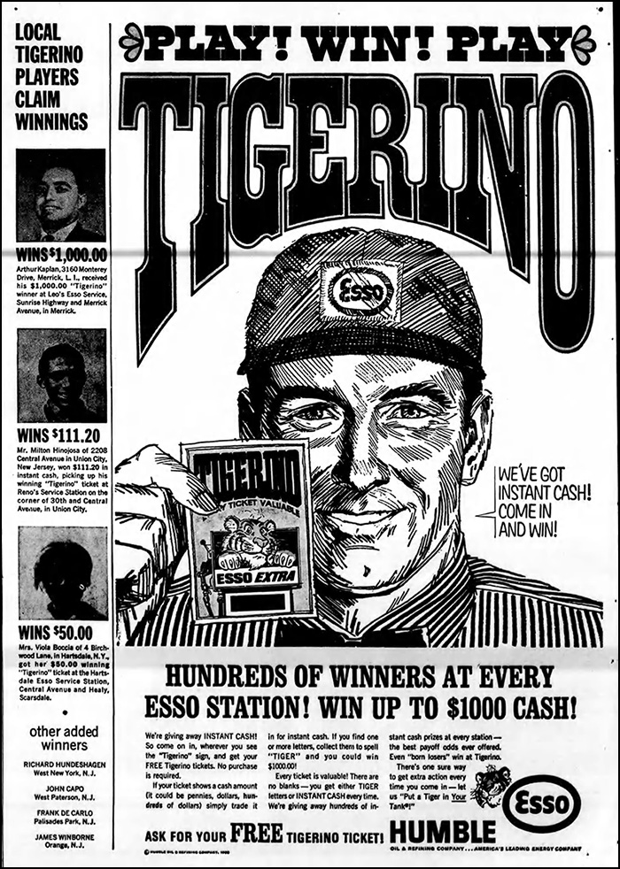 tigerino instant win game ad